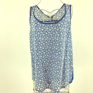 Anthropologie Mine blue and white shirt